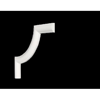 C1-130A/Декоративный уголок гладкий (105*105*8мм)/4, шт