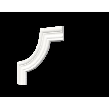 C1-DD400/Декоративный уголок гладкий (200*200*16мм)/4, шт