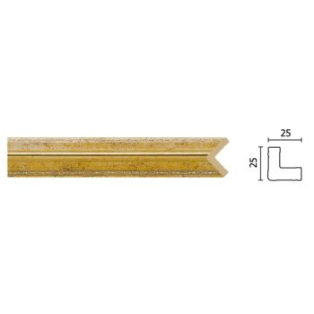 C1025-553/Угол (25х25х2400)/45, шт