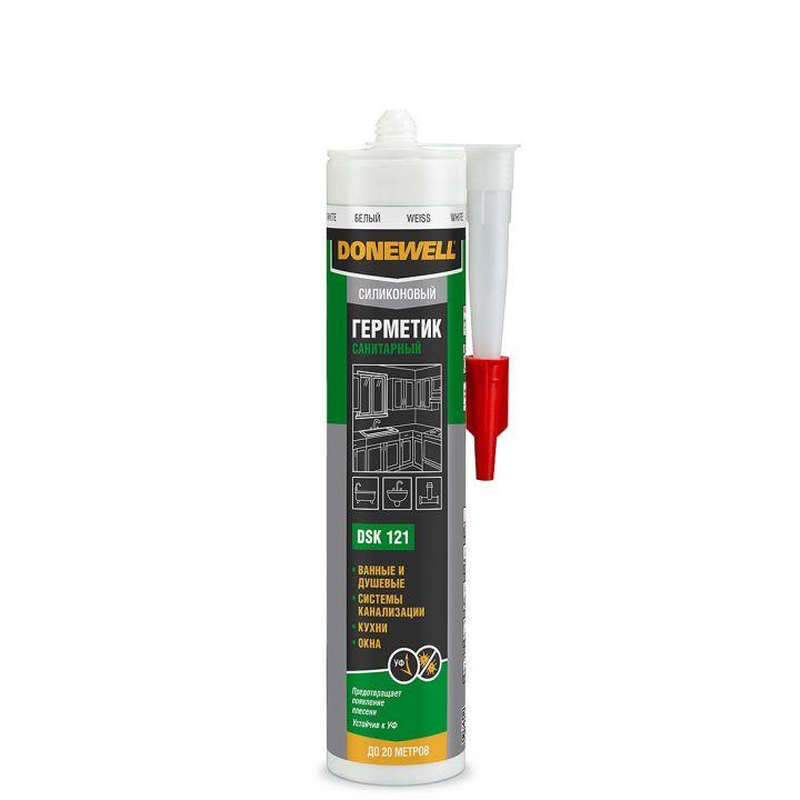 KUDO герметик  DoneWell силикон санитар белый DSK121 (260мл/12) (DSSIL260S-1)