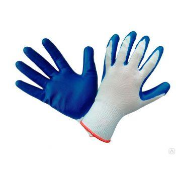 Перчатки Latex Touch-Grip, 10/XL для малярных, строительных и бытовых работ, вязаные из полиэстра с покрытием из латекса на ладони и пальцах