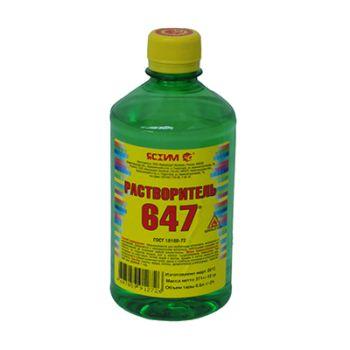 Растворитель 647, 0.5 л Ясхим / упаковка - 25 шт.